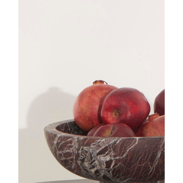 Modern Handcrafted Fruit Bowl in Italian Marble by Karen Chekerdjian For Sale - Image 9 of 10