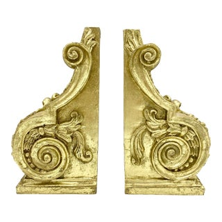 Vintage Gold Corbel Bookends-A Pair For Sale