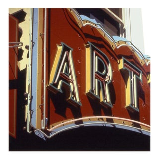 """""""Art"""" Lithograph Ed: 2/15 A.P./60 by Robert Cottingham For Sale"""