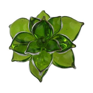 Mwlc Poured Glass Succulent RIng For Sale