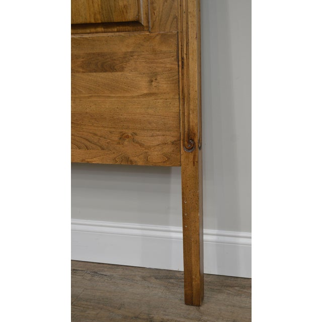 French Country Style Quality High Back Pine King Headboard For Sale - Image 10 of 13