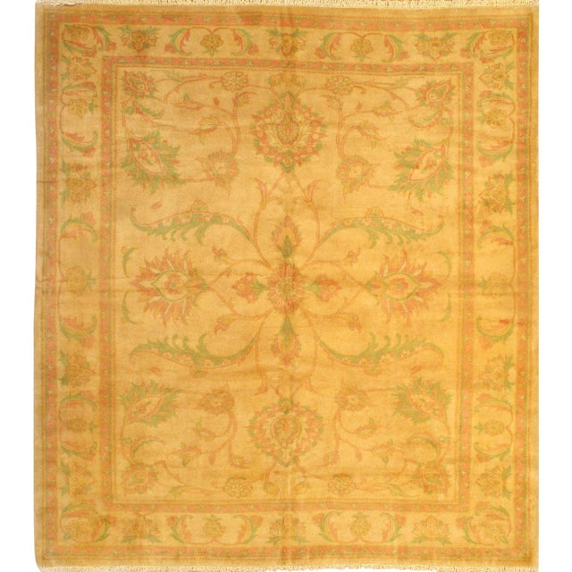 "Pasargad N Y Original Persian Sultanabad Hand-Knotted Lamb's Wool Rug - 8'9"" x 9'10"" For Sale"