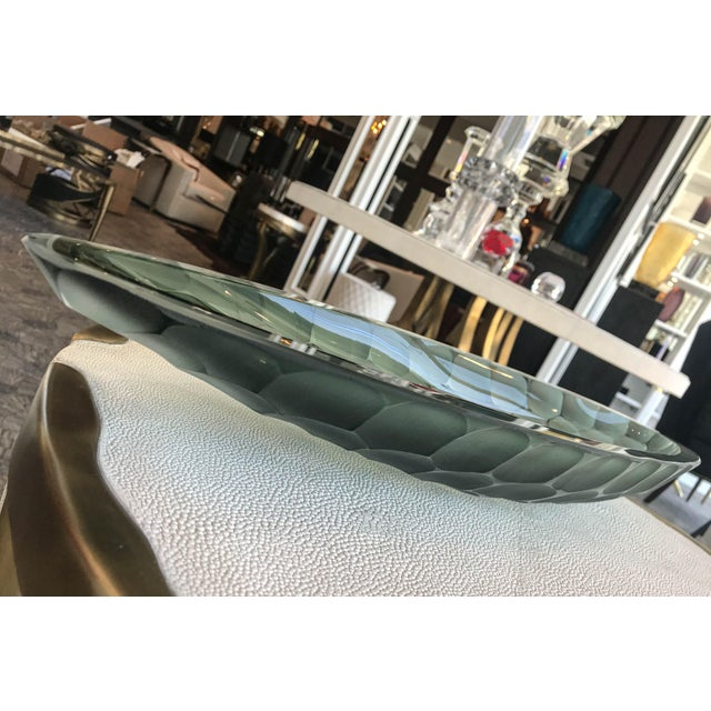 Art Deco Alberto Dona Green Battuto Bowl For Sale - Image 3 of 7