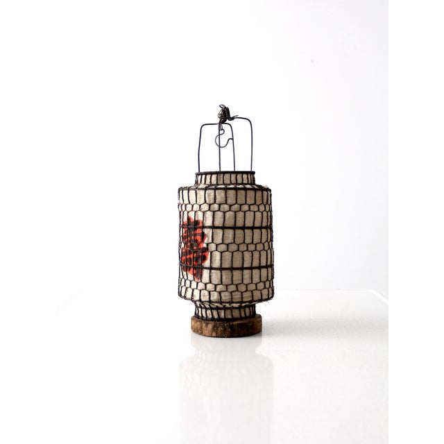 Vintage Chinese Wire Lantern - Image 4 of 6
