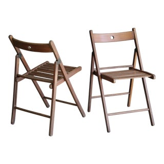 Modernist Folding Chairs, a Pair