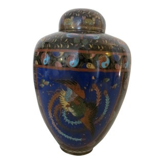 18th Century Antique Japanese Cloissoné Urn For Sale