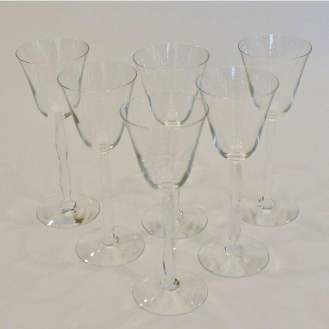 Baccarat Crystal Onde Wine Glasses - Set of 6 - Image 2 of 5