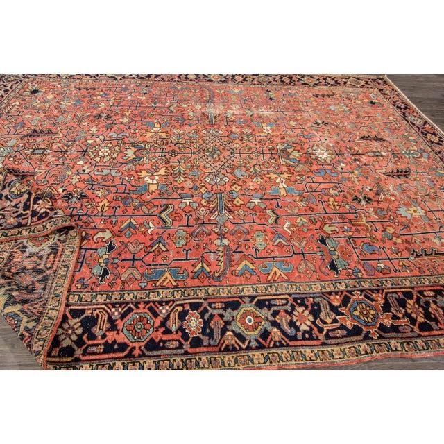 """Apadana - Vintage Persian Heriz Rug, 9'4"""" x 12'5"""" - Image 4 of 7"""