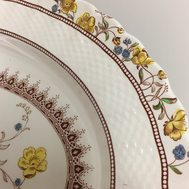 1920s Spode Copeland Iconic Buttercup Large Oval Serving Platter For Sale - Image 5 of 8