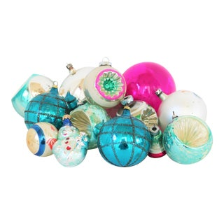 European Assorted Christmas Ornaments S/13 For Sale