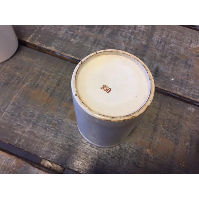 Early 20th Century Vintage French White Cream Jar For Sale - Image 5 of 8