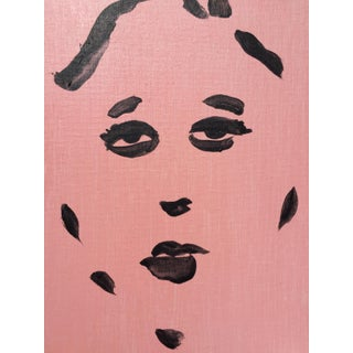 Black on Pink Portrait Painting Preview