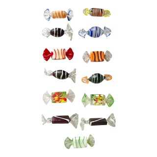 Vintage Murano Glass Candies-Set of 13 For Sale