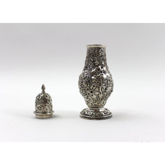 Antique 1840s Repousse Silver Pepper Shaker - Image 3 of 6