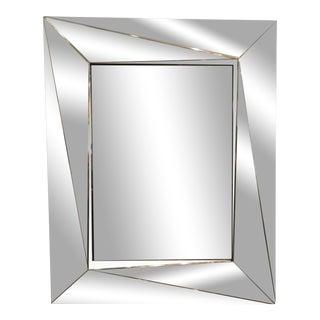 Italian Angular Chrome Mirror For Sale