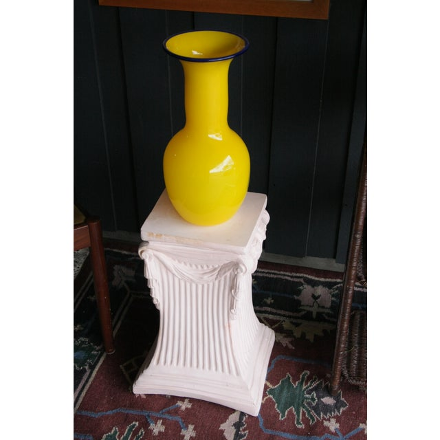 Pink Plaster Pedestal / Plant Stand / Side Table For Sale - Image 4 of 11