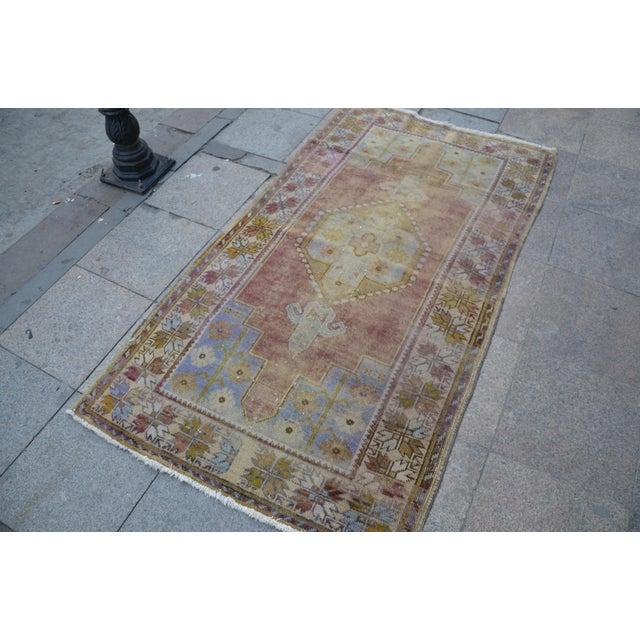 """Islamic Oushak Handmade Floor Carpet -- 3'7"""" x 6'7"""" For Sale - Image 3 of 6"""