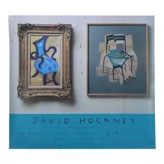 1988 David Hockney a Retrospective Exhibition Poster For Sale