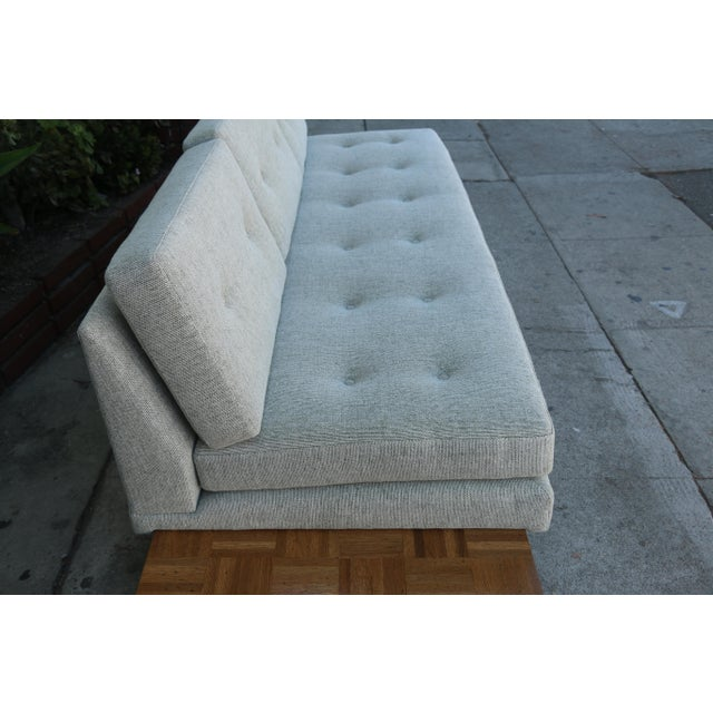 Brown Adrian Pearsall Patched Burlwood Platform Sofa For Sale - Image 8 of 12