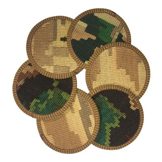 Rug & Relic Kilim Coasters Set of 6 | Feray For Sale