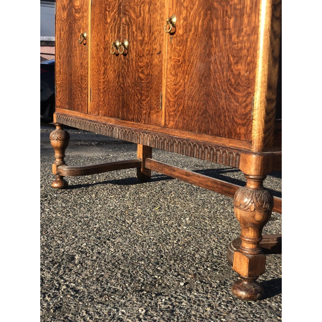 Brown 19th Century English Welsh Oak Sideboard For Sale - Image 8 of 9