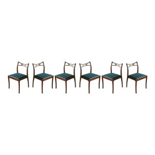 Mid-Century Danish Modern Mahogany Dining Chairs - Set of 6 For Sale
