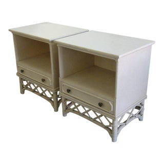 Ficks Reed Nightstands - a Pair For Sale