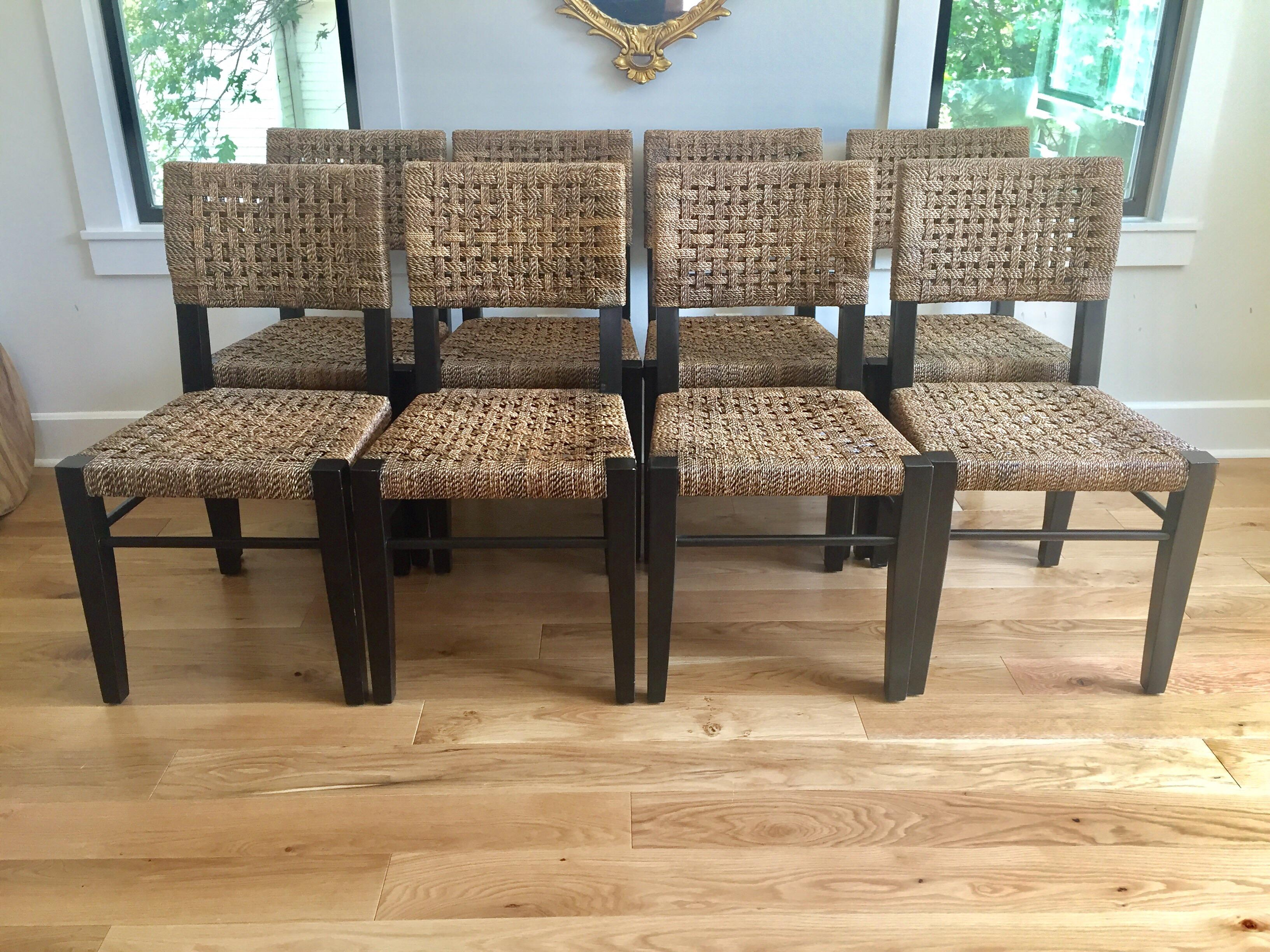 Palecek Panamawood Dining Chair   Set Of 8   Image 2 Of 9