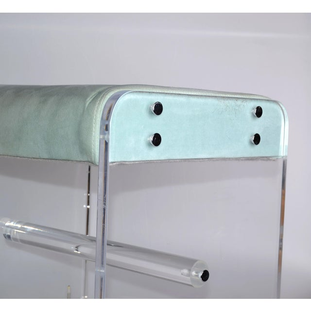 Mid-Century Modern Lucite Stool On Casters For Sale - Image 5 of 10