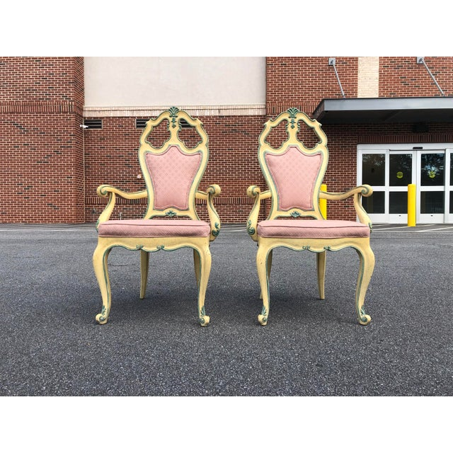 Victorian Style Era Gothic Chairs- a Pair For Sale - Image 9 of 9