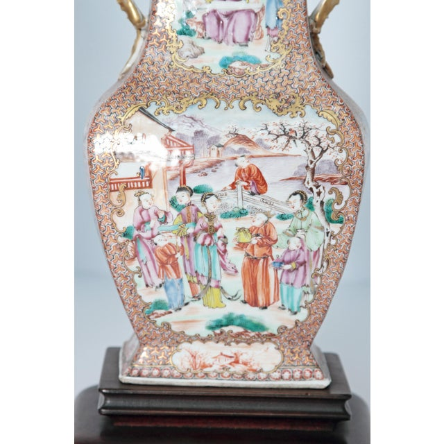 Pair of Early 19th Century Chinese Export Rose Mandarin Porcelain Jars as Lamps For Sale - Image 10 of 13