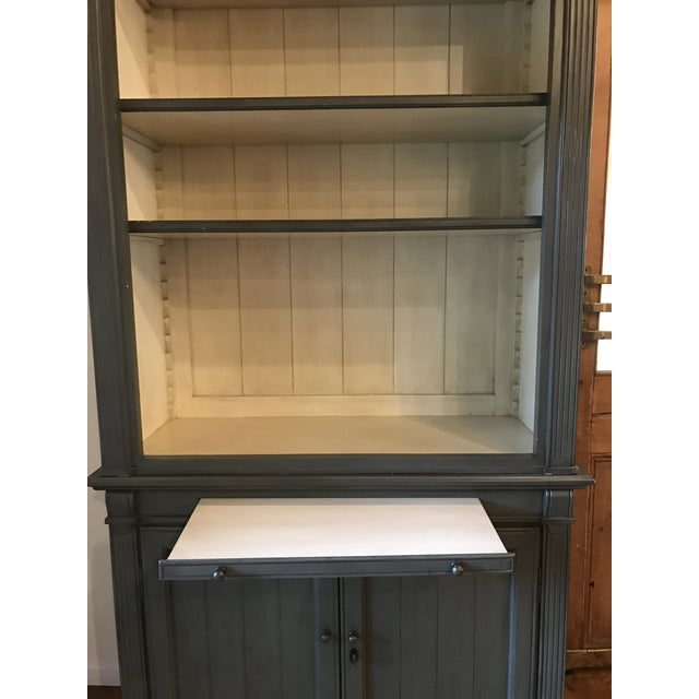 "Cottage Kingsbridge Collection ""New Classic"" Bookshelf Cabinet - Light Grey For Sale - Image 3 of 8"