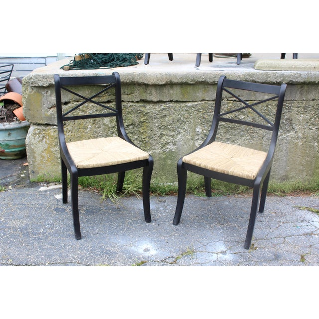 Late 20th Century Pottery Barn Dining Chairs- Pair