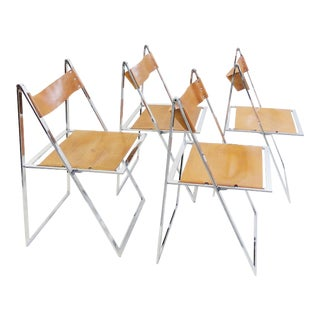Set of 4 Folding Chairs 'Elios' by Fontoni & Geraci - 1960s