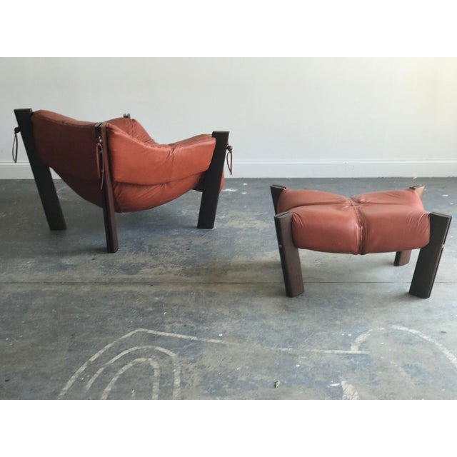 Percival Lafer Mid Century Modern Model Mp-212 Percival Lafer Lounge Chair and Ottoman For Sale - Image 4 of 13