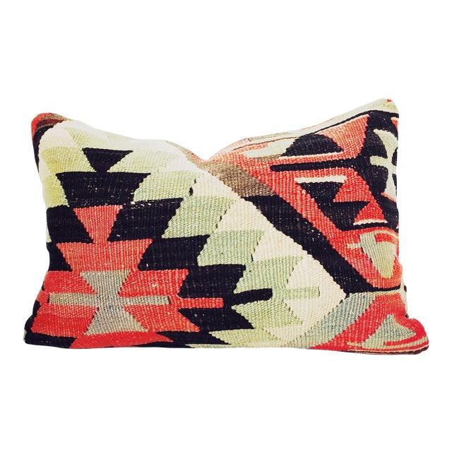 Turkish Kilim Lumbar Pillow - Image 1 of 6