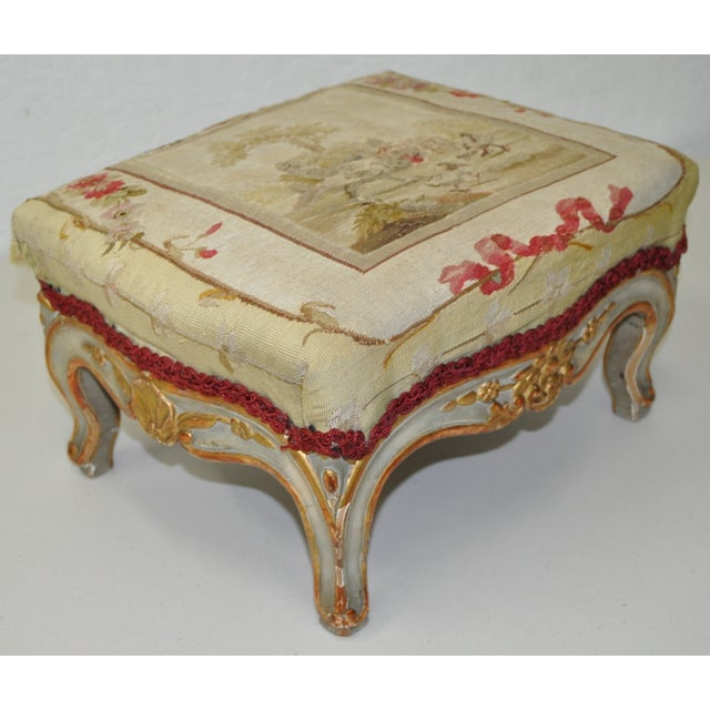 French Rococo Footstool 19th C. - Image 3 of 7
