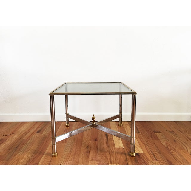 La Barge Brass Chrome & Glass Side Table - Image 2 of 6