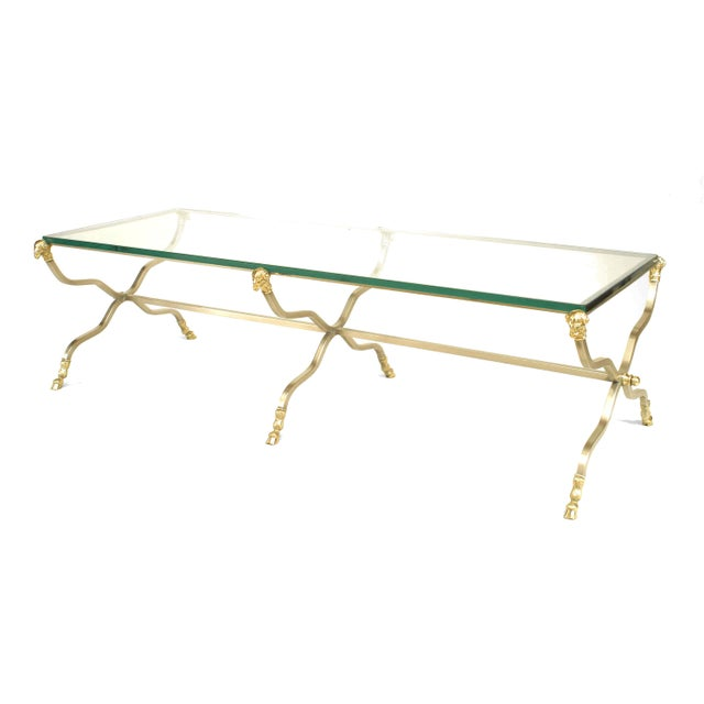 Maison Jansen French Directoire Style '20th Cent.' Steel Coffee Table For Sale - Image 4 of 4