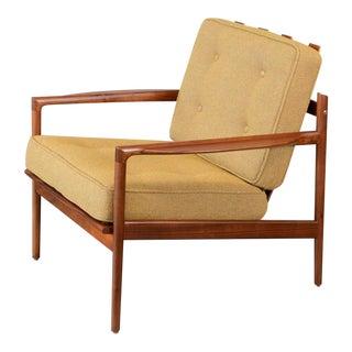 Kofod Larsen for Selig Picket Back Walnut Lounge Chair