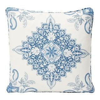 Schumacher Double-Sided Pillow in Montecito Medallion Linen Print