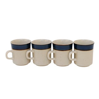 Rainbow Stoneware Sango Mariana Cups - Set of 4 For Sale
