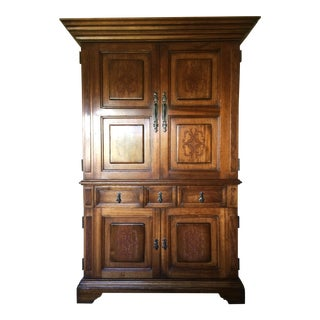 South Cone Trading Traditional Wooden Media Cabinet/Armoire For Sale