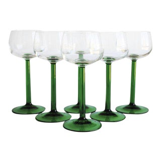 Vintage Wine Glasses - Set of 6