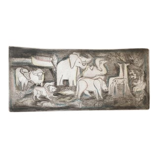 "Irving Amen Original Artist Proof Lithograph ""Noah's Ark"" For Sale"