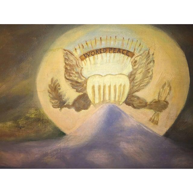 Modern World Peace Painting by Artist John Dasho For Sale In Philadelphia - Image 6 of 10