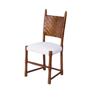 Scottish Side Chair in Sculpted Oak For Sale