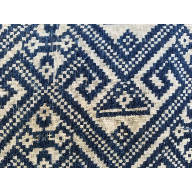 Antique 1930s Hand Embroidered Tribal Footstool For Sale - Image 4 of 9