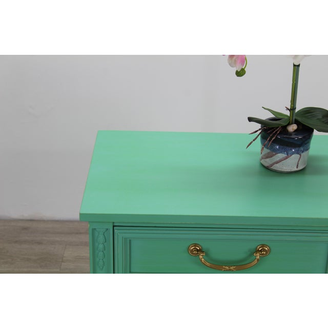Mid Century Neoclassical Style Nightstand, Green Nightstand For Sale - Image 10 of 11