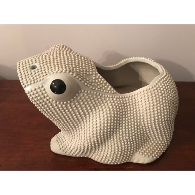 20th Century Chinese Export Frog Planter Cachepot For Sale - Image 10 of 10